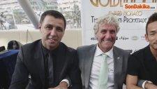 Hakan Şükür'e Monaco Prensi 2. Albert'ten 'golden Foot' Ödülü