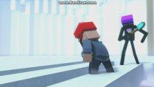 Minecraft Animasyon - Creeper'e Saldırana Böyle Olur (2. Bölüm)