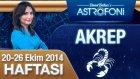 Akrep Burcu Haftalık Astroloji Yorumu 20-26 Ekim 2014