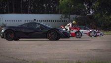 McLaren P1 & Porsche 918 Spyder & Ducati 1199 Superleggera Kapışması