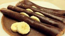Kakaolu Çikolatalı Nefis Kahvaltılık Krep Tarifi