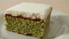 Ispanaklı Kekiyle Kremalı Kolay Yaş Pasta Tarifi