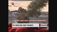 Taksim'de Çevreyi Yakıp Yıkan Göstericiler