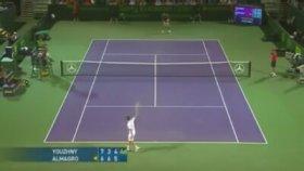 Kafasında Raket Kıran Tenisçi