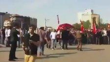 Taksimde Polise Meydan Dayağı Çekmek