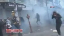 Osmanbey Metro Çıkışında Polis Saldırısı 2