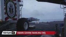 Ön İniş Takımları Açılmayıp Tabure Üzerine İnen Jet