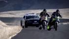 Çılgın Motosikletli Polisten Böyle Kaçtı!