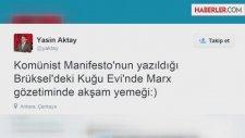 AK Partili Aktay, Karl Marx Fotoğrafı Önünde Poz Verdi