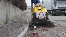 Mini Yol Süpürme Aracı-Durasweep 125 St Benzinli Süpürge