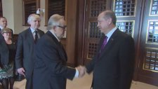Finlandiya Eski Cumhurbaşkanı Ahtisaari Ve Dışişleri Bakanı Tuomioja Cumhurbaşkanlığı Sarayı'nda