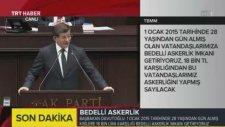 Başbakan Ahmet Davutoğlu Bedelli'yi Açıkladı