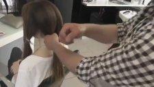 5 Dakikada Pratik Olarak Örgü ve Topuz Yapma Saç Modeli