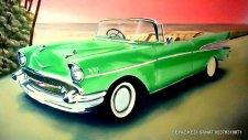 American Arabası Duvar Resmi