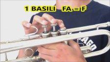 Trompet Notaları Parmak Yerleri Trumpet Notes Aykut Öğretmen