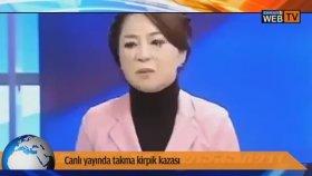 Canlı Yayında Takma Kirpik Kazası