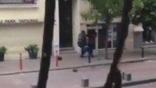 Bir Eylemciye On Polisin Saldırması