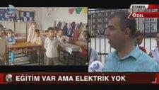 İstanbul Büyükçekmece'de Elektriksiz Okul