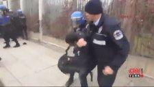 Kaçak Saray Eyleminde Öğrenci Yumruklayan Polis