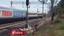 Test Sürüşünde Kaza Yapan Yüksek Hızlı Tren