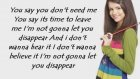 Selena Gomez - Disappear Lyrics