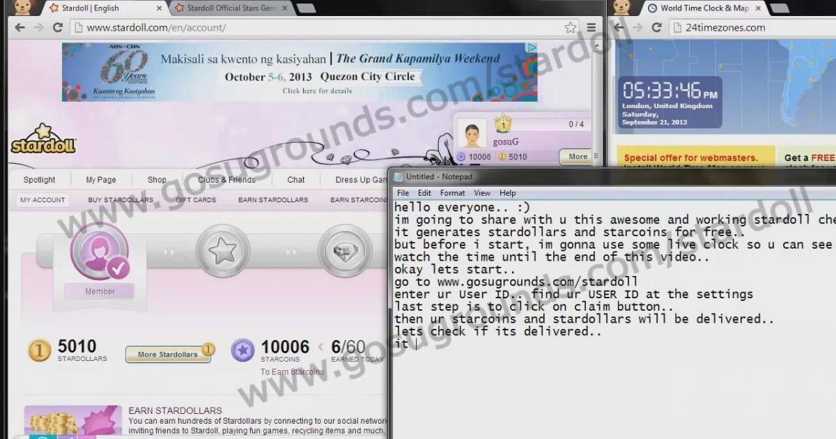 stardoll hack cheats for stardollars and starcoins