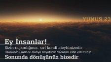 Kuranı Kerim Türkçe Meali Yunus Suresi 23