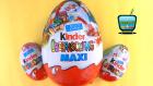 3 Sürpriz Yumurta Açımı! Büyük Boy Kinder MAXI Yeni Sürpriz Yumurtalar!