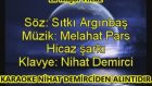 Ben Gamlı Hazan La Majör Hicaz Karaoke Md Altyapısı Şarkı Sözü