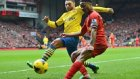 Liverpool 2-2 Arsenal Maç Özeti (21.12.2014)