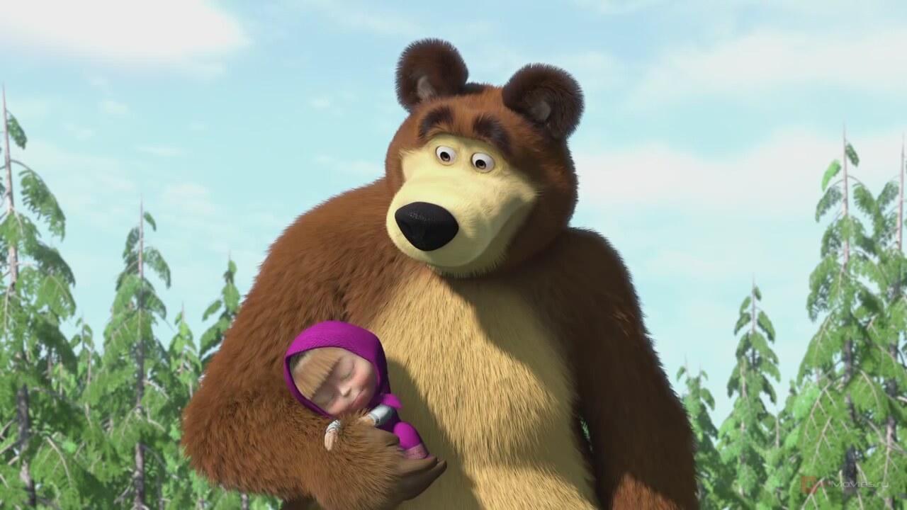 Картинка маша и медведь любовь