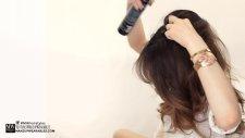 Yarım Topuz Saç modeli