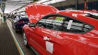 2015 Ford Mustang PRODUCTION at Flat Rock, Michigan