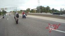 Motosikletle Polisten Kaçış