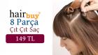 Hair Buy Yarım Ay Saç-Çember Yarım Ay-Flipin Hair-Misineli Yarım AY