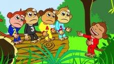 Five Little Monkeys - Adisebaba İngilizce Çizgi Film Çocuk Şarkıları Videoları