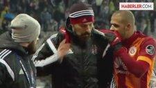 Beşiktaş - G.Saray Maçında Bilic, Melonun Elini Omzundan İndirdi