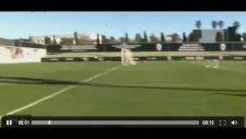 Alvaro Negredodan antrenmanda harika gol!
