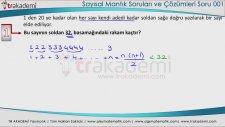 Sayısal Mantık Eğitim Seti Soruları ve Çözümleri Soru 001