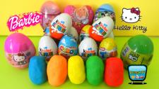 20 Sürpriz Yumurta Açımı! Kinder, Barbie ve Oyun Hamurundan Sürpriz Yumurtalar