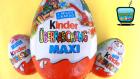 Büyük Boy Kinder MAXI ve Yeni Sürpriz Yumurtalar! 3 Sürpriz Yumurta Açıyoruz!