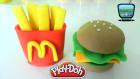 Oyun Hamuru ile Patates Kızartması ve Hamburger Yapımı