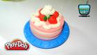 Play Doh Oyun Hamuru ile Çilekli Pasta Yapımı