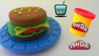 Play Doh Oyun Hamuru ile Hamburger Yapımı