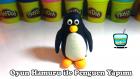 Play Doh Oyun Hamuru ile Penguen Yapımı