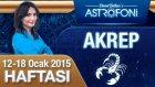 AKREP burcu haftalık yorumu 12-18 Ocak 2015