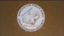 Logo Yansıt Dış Ortam Dönen Logo ve Lazer Yansıtıcı Sürücü kursu Uygulama videosu