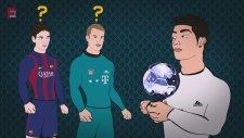 Cristiano Ronaldo'yu Birde Böyle İzleyin (Ballon d'or Ödülü)