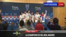 Real Madrid'li Futbolcuların Basın Toplantısını Basması