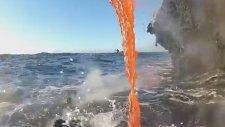 Denize Akan Lav Böyle Görüntülendi